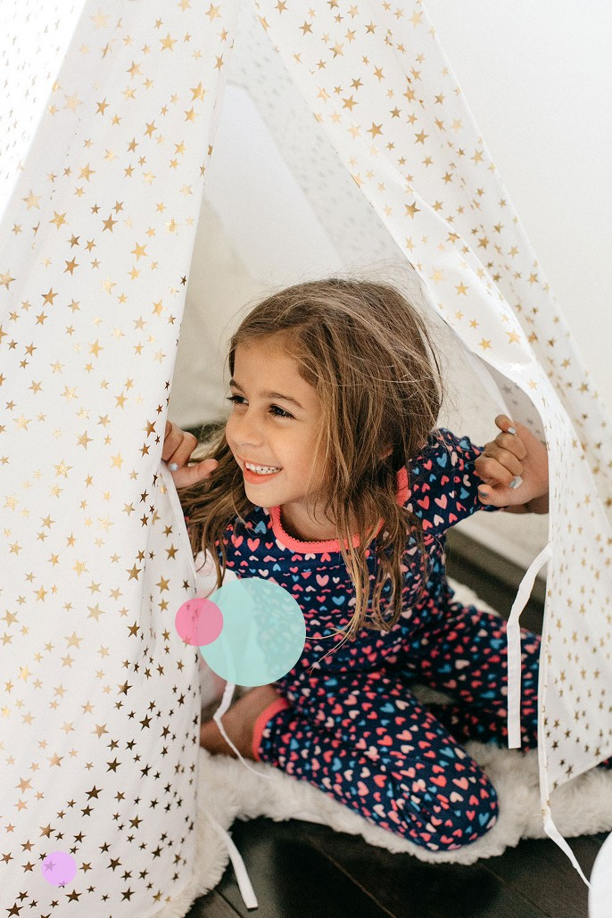 A Frame Tent - Pillowfort™, Just One You® made by carter's Girls' 4pc Candy Pajama Set - Pink