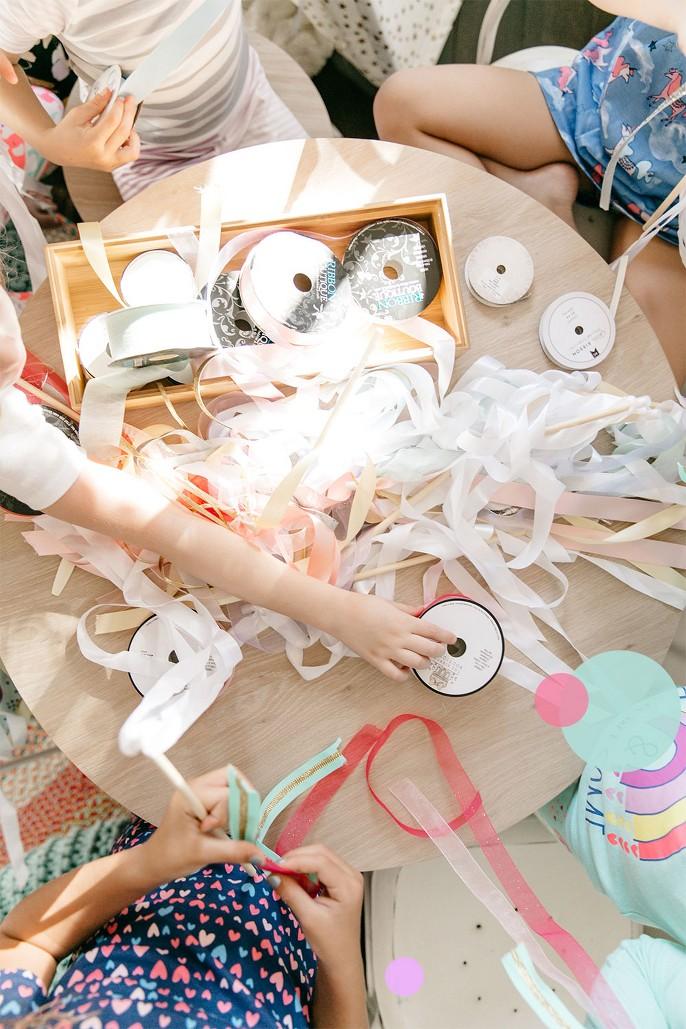 White Fabric Ribbon -   - Spritz™, Blue Grosgrain Fabric Ribbon - Spritz™, Mint Sheer Fabric Ribbon - Spritz™, Light Pink Satin Fabric Ribbon - Spritz™, 3/8