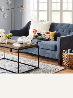 76u201d Sofas Are Great For Small Spaces While 89u201d U0026 Bigger Can Anchor A  Larger Room Browse Grey Tufted Sofa44