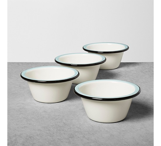 Enamel Ice Cream Bowl - Black/Blue/Cream - Hearth & Hand™ with Magnolia