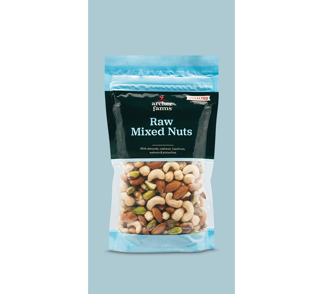 Raw Mixed Deluxe Nuts - 9.5oz - Archer Farms™