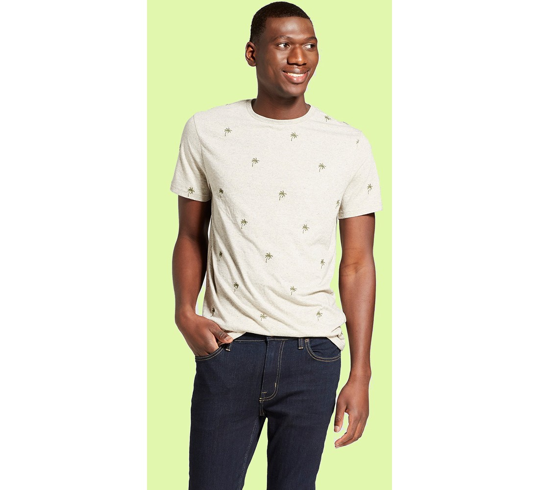 Men's Standard Fit Short Sleeve Crew Neck T-Shirt - Goodfellow & Co™ Palm Tree
