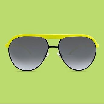 Men's Aviator Sunglasses - Yellow and Black