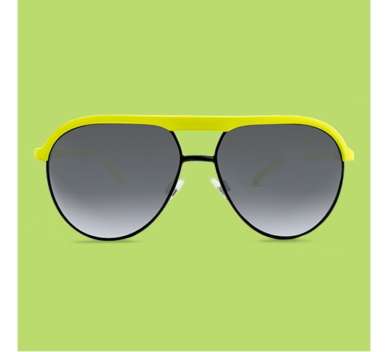 Men's Aviator Sunglasses - Yellow and Black