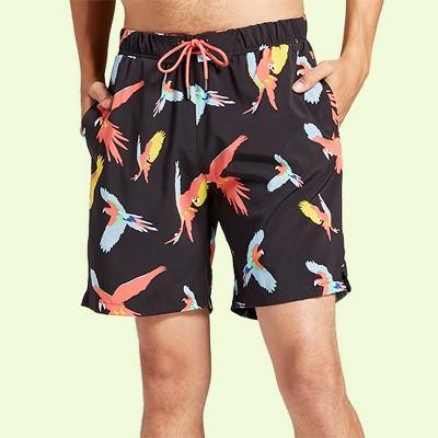 Men's Macaw Swim Trunks - No Retreat Navy