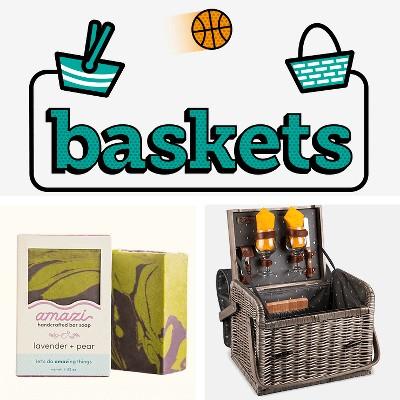 Baskets, Amazi Lavender Pear Bar Soap - 4o, Picnic Time Kabrio Picnic Basket - Anthology Collection,
