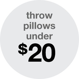 throw pillows under 20