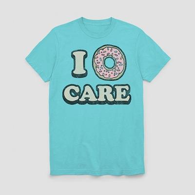 Men's I Donut Care Short Sleeve Graphic T-Shirt - Light Blue