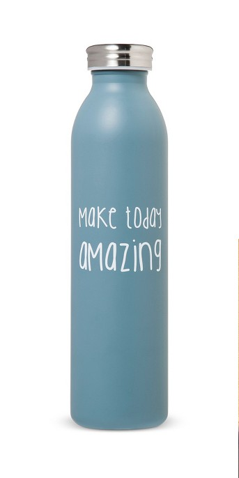 20oz Stainless Steel Insulated Retro Water Bottle - Teal Matte