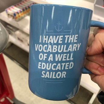 14oz Porcelain I Have The Vocabulary Of A Well Educated Sailor Mug Blue - Threshold™